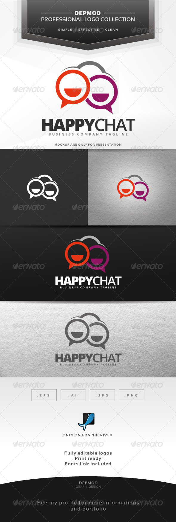 GraphicRiver Happy Chat Logo 6912268