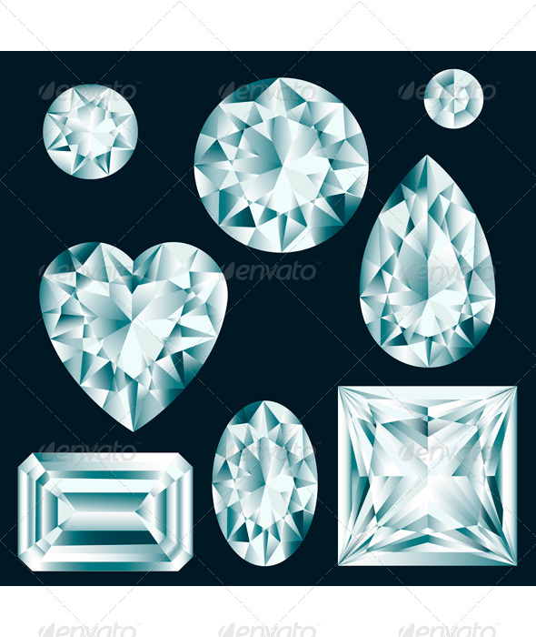 GraphicRiver Diamonds set 6912537