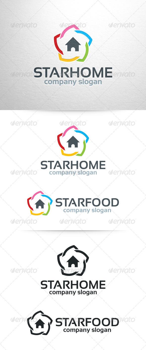 GraphicRiver Star Home Logo Template 6912687