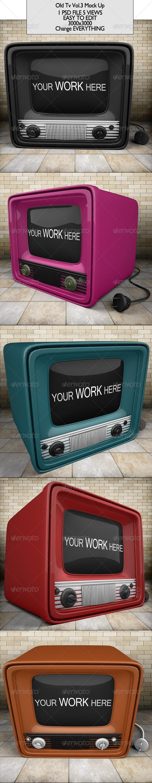 GraphicRiver Old Tv Mock Up 6904088