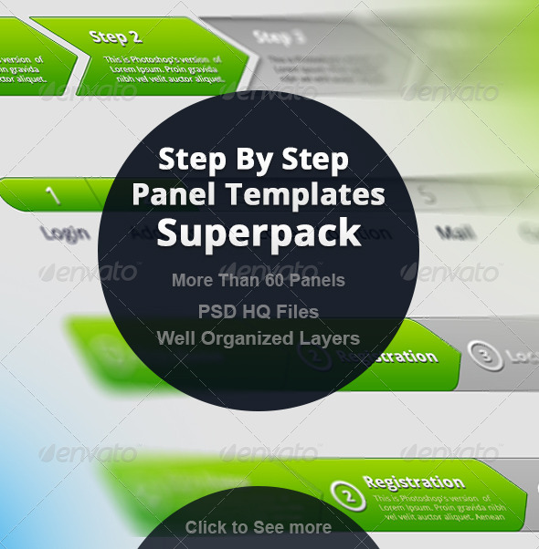 GraphicRiver Step By Step Panel Templates Superpack 6909956
