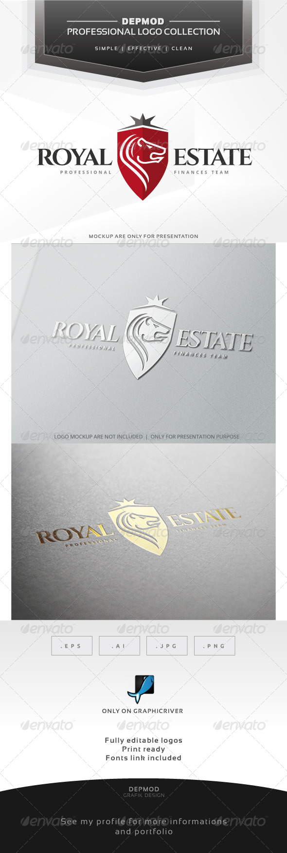 GraphicRiver Royal Estate Logo 6912770