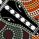 Aboriginal Style Dot Painting of Crocodile