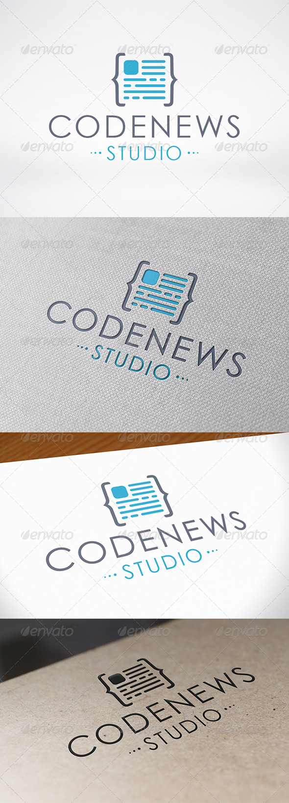 GraphicRiver Code News Logo Template 6912893