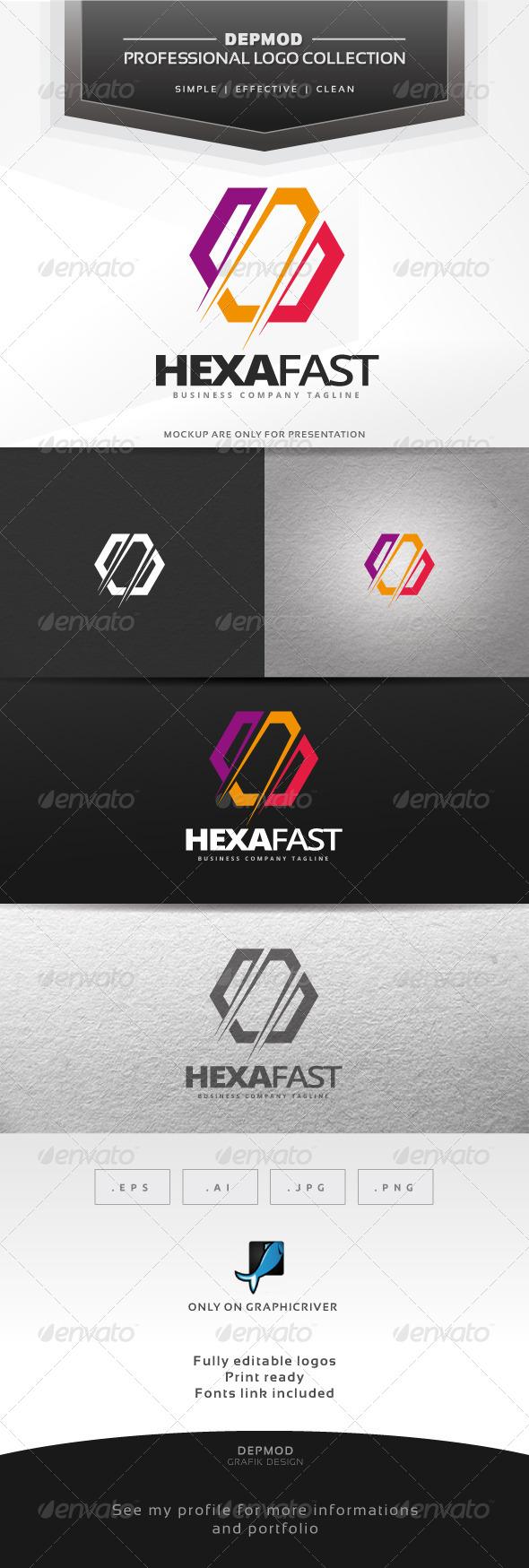GraphicRiver Hexa Fast Logo 6912916