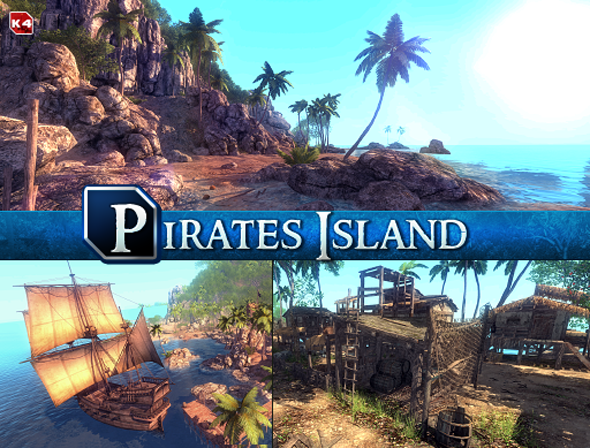 3DOcean Pirates Island 6912932