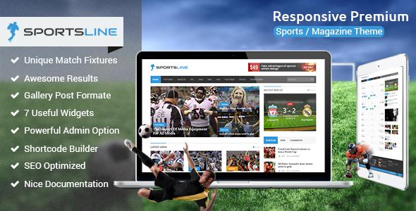 ThemeForest Sportsline Responsive Sports News Theme 6271191