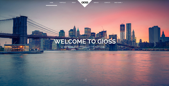 Gioss - Responsive HTML One Page Parallax