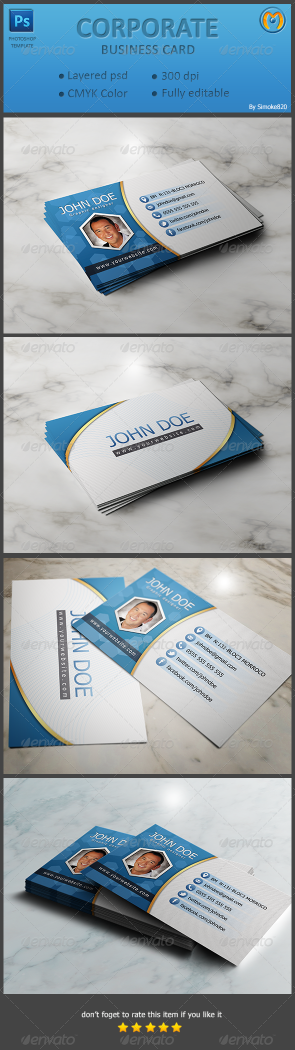 GraphicRiver Corporate Business Card V.4 6872624
