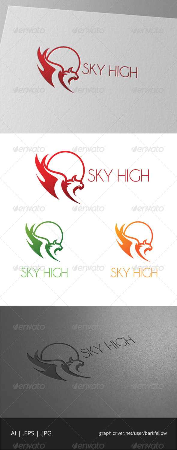 GraphicRiver Sky High Eagle Bird Logo 6913189