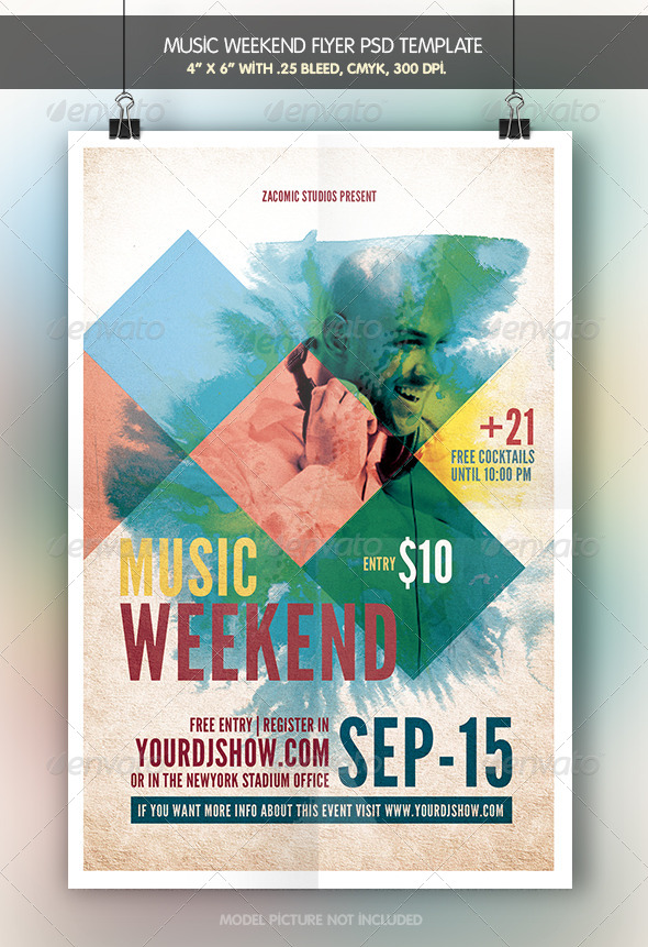 GraphicRiver Music Weekend 6913236