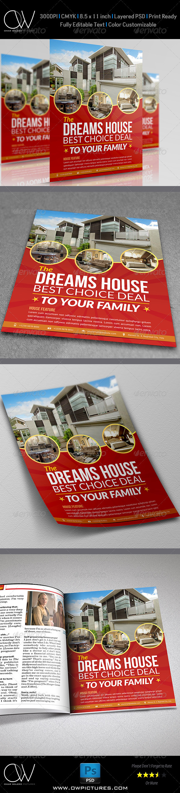 GraphicRiver Real Estate Flyer Template Vol.8 6913239