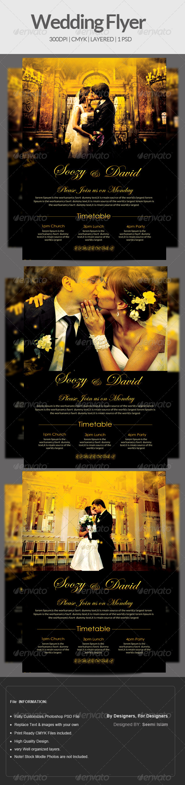 GraphicRiver Wedding Flyer Template 6904797