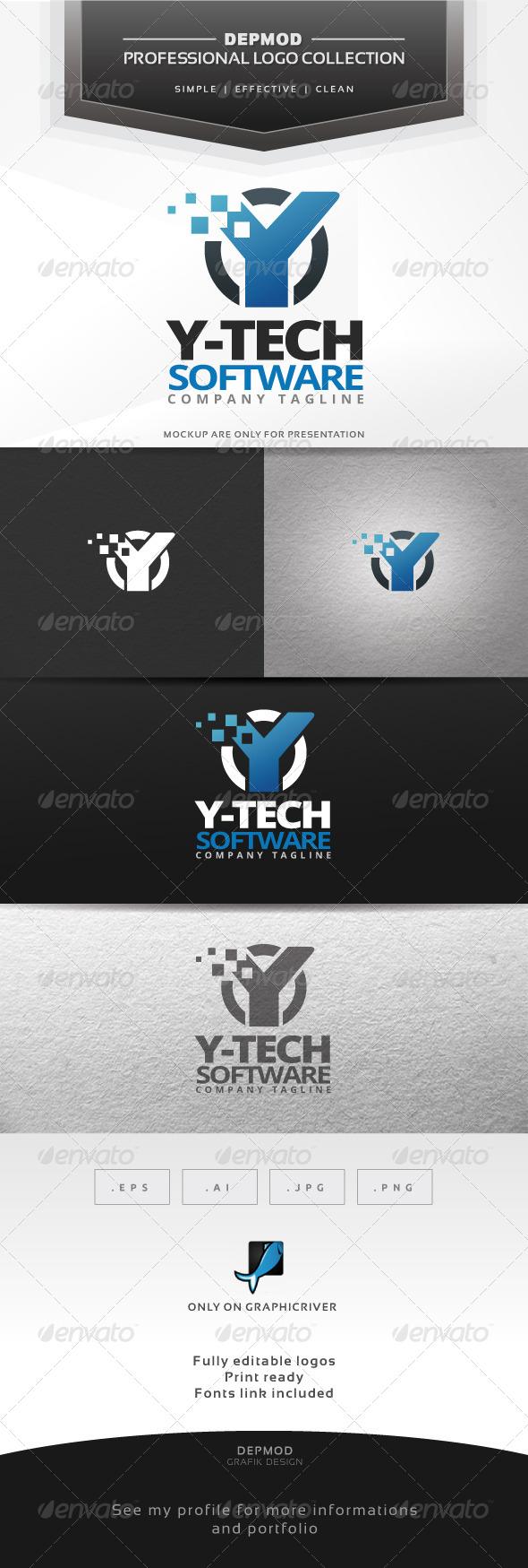 GraphicRiver Y-Tech Software Logo 6913410