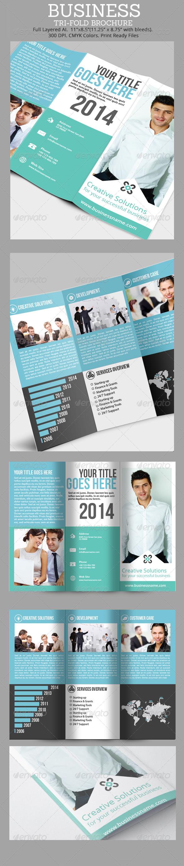 GraphicRiver Simple Business Tri-Fold Brochure 6913413