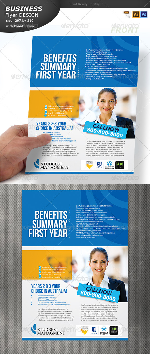 GraphicRiver A4 Business Flyer Design 6913420