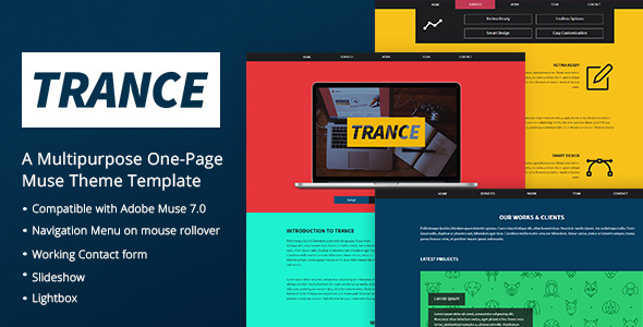 Trance - A One Page Muse Theme