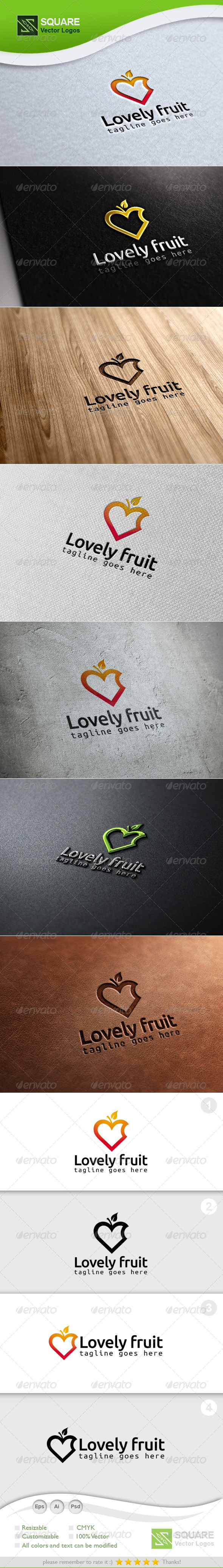 GraphicRiver Love Fruit Vector Logo Template 6913520