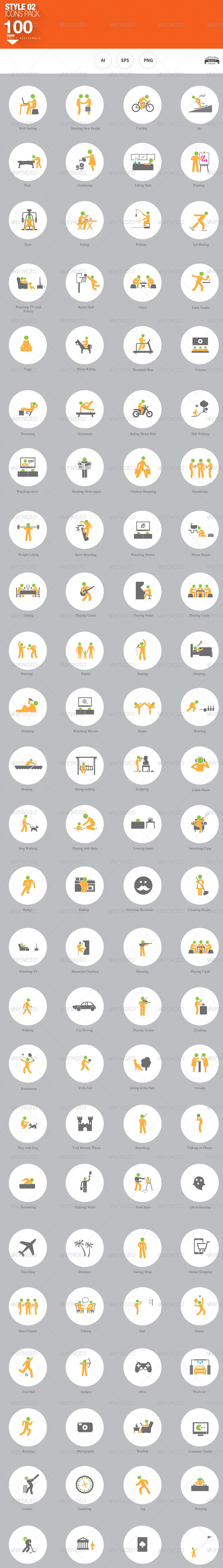 hobbies and interests icons by nadia graphicriver preview set preview 01 jpg