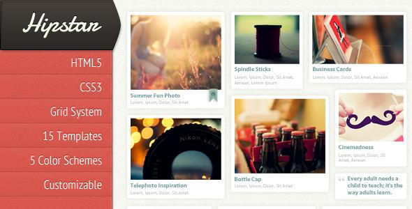 Hipstar - Creative HTML Template - Thumbnail