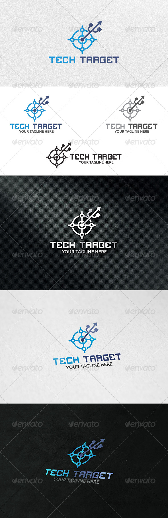 GraphicRiver Tech Target Logo Template 6913561