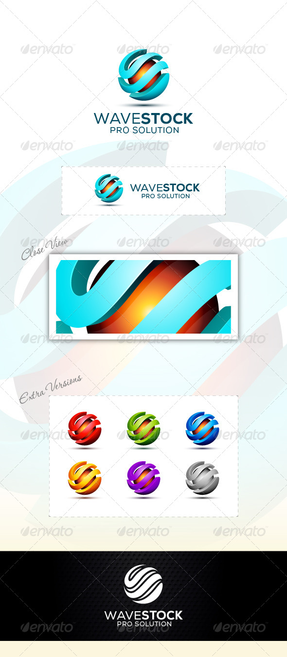 GraphicRiver Wave Tach Logo 6913572