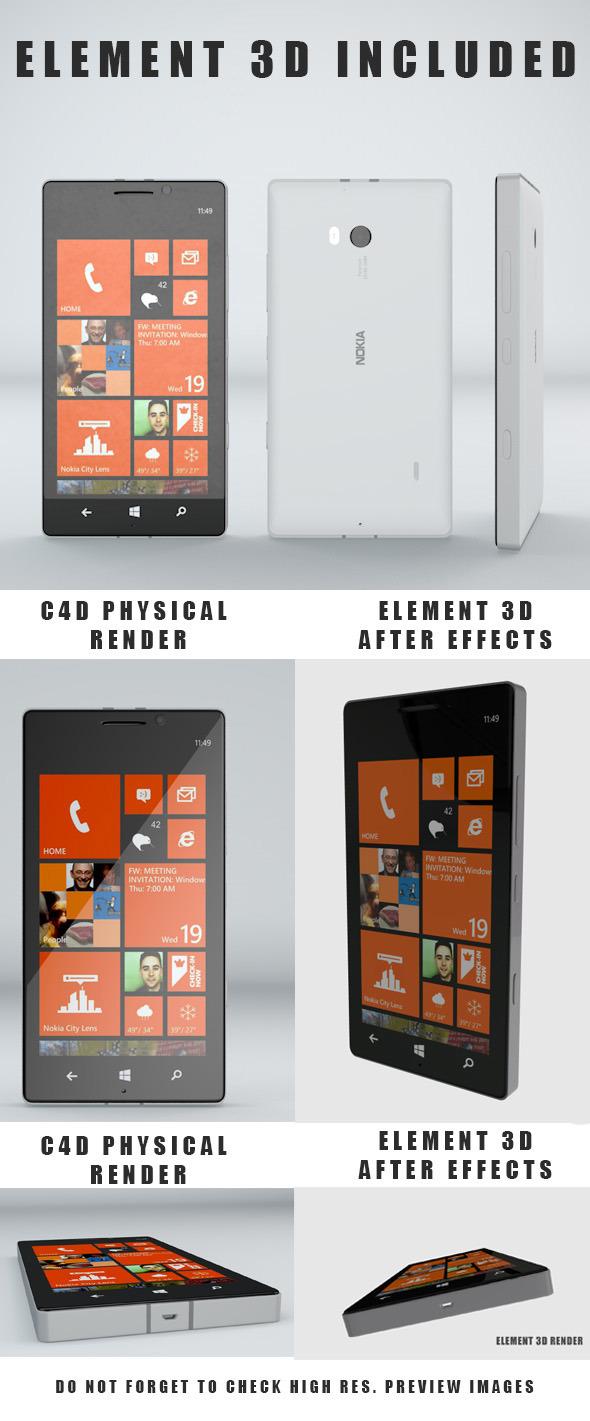 Nokia Lumia Icon - 3DOcean Item for Sale