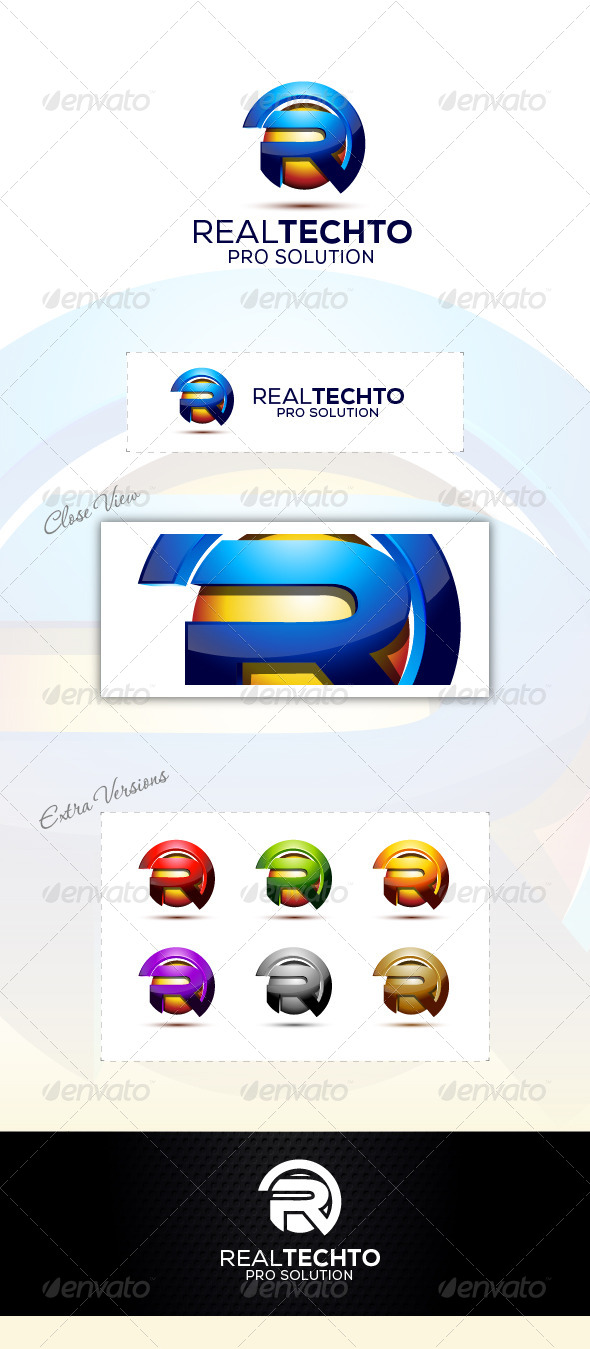 Real Technology - Letters Logo Templates