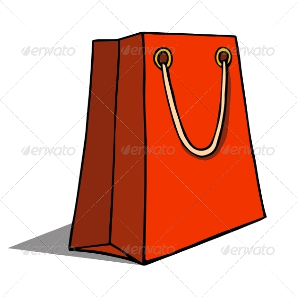 GraphicRiver Red Shopping Bag 6913635