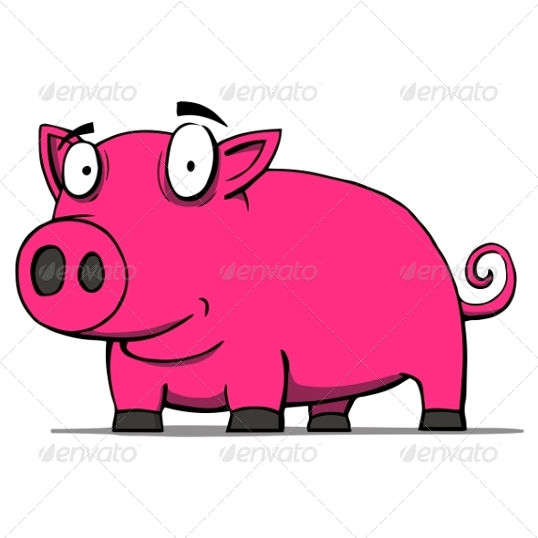 GraphicRiver Pig Cartoon 6913644
