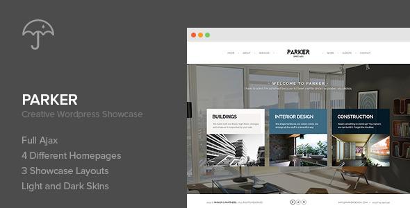ThemeForest Parker Creative WordPress Showcase 6906092