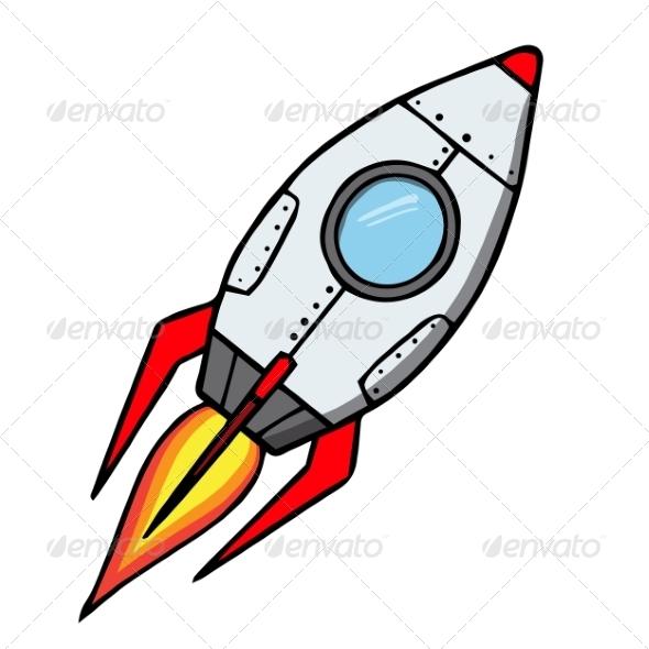 GraphicRiver Space Rocket Cartoon 6913670