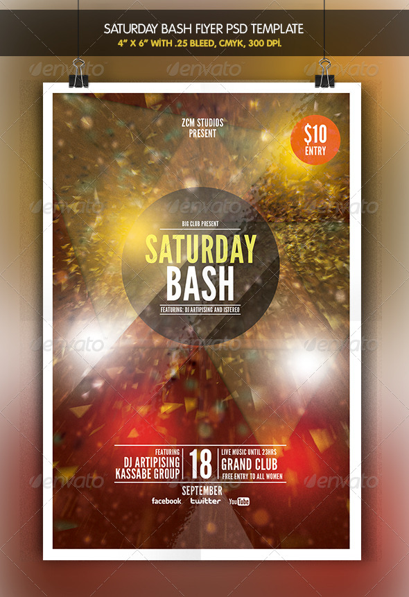 GraphicRiver Saturday Bash 6913780