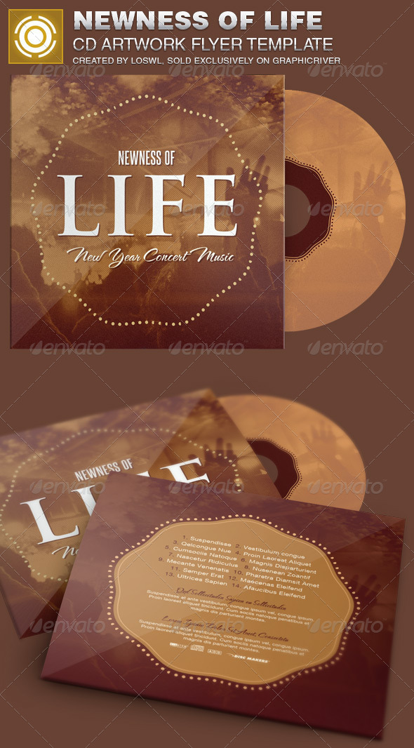 GraphicRiver Newness of Life CD Artwork Template 6913782