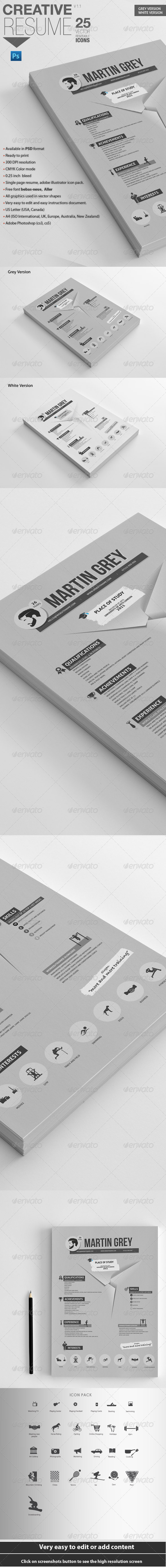 GraphicRiver Professional Resume For Personal Trainers 6913784