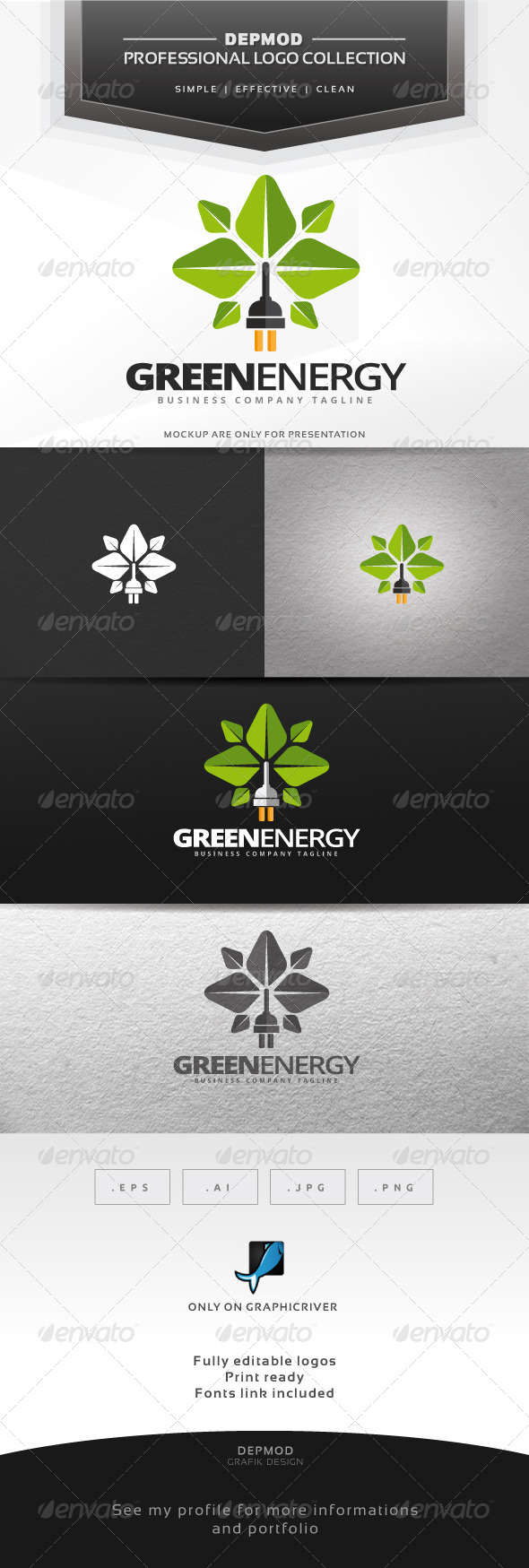 GraphicRiver Green Energy Logo 6913916