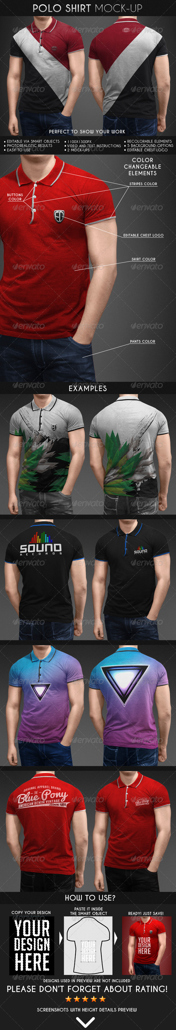 GraphicRiver Polo Shirt Mock-Up 6913975