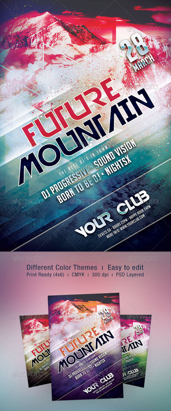 Future Mountain Flyer - Clubs & Parties Events