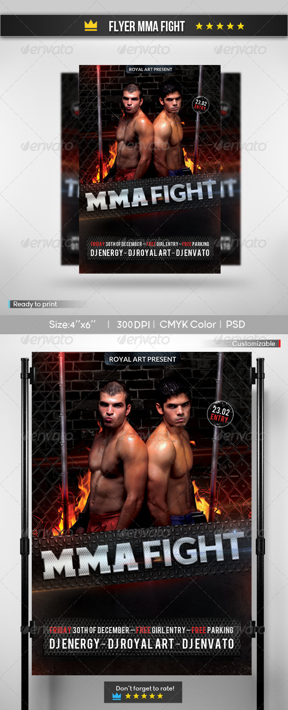 GraphicRiver Flyer MMA Fight 6914174