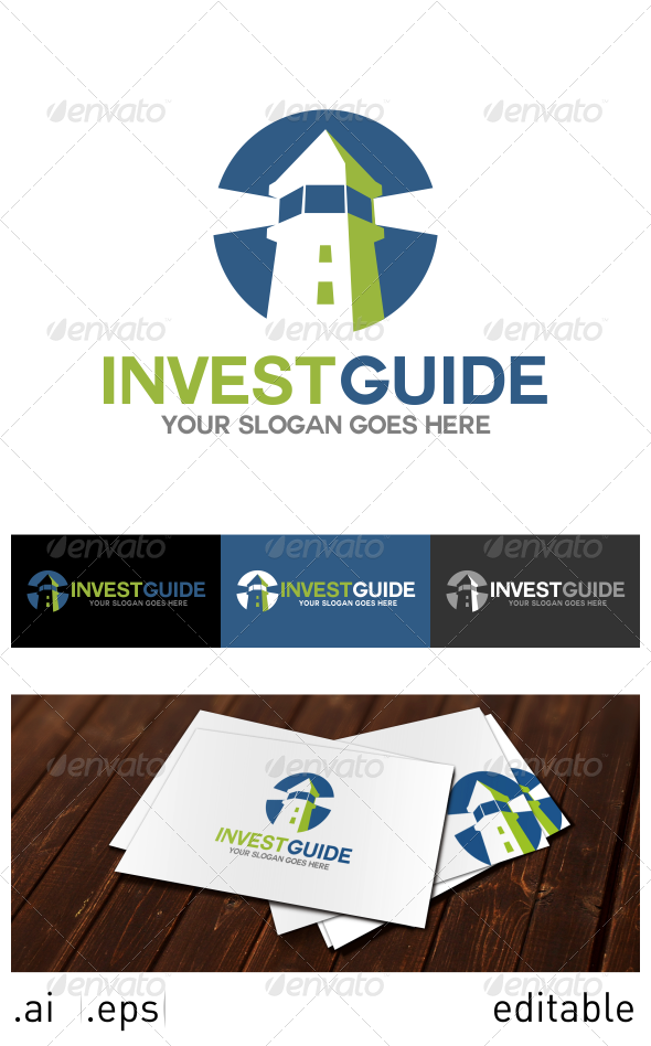 GraphicRiver Invest Guide Logo Template 6914421
