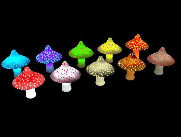 Mushroom Type 1 3D Game Asset