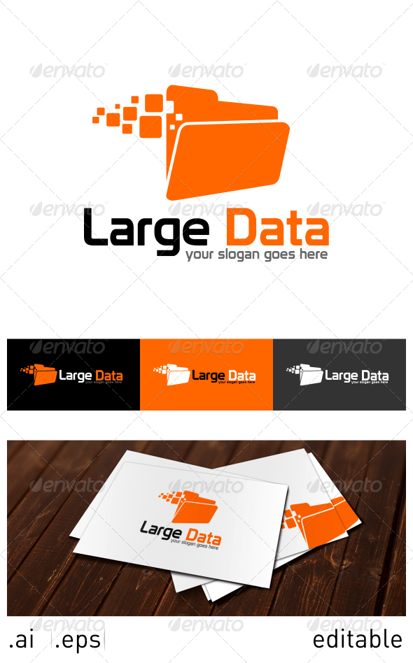 GraphicRiver Large Data Logo Template 6914444