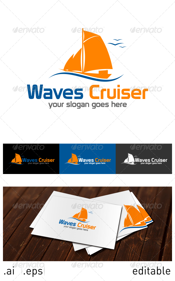 GraphicRiver Waves Cruiser Logo Template 6914563