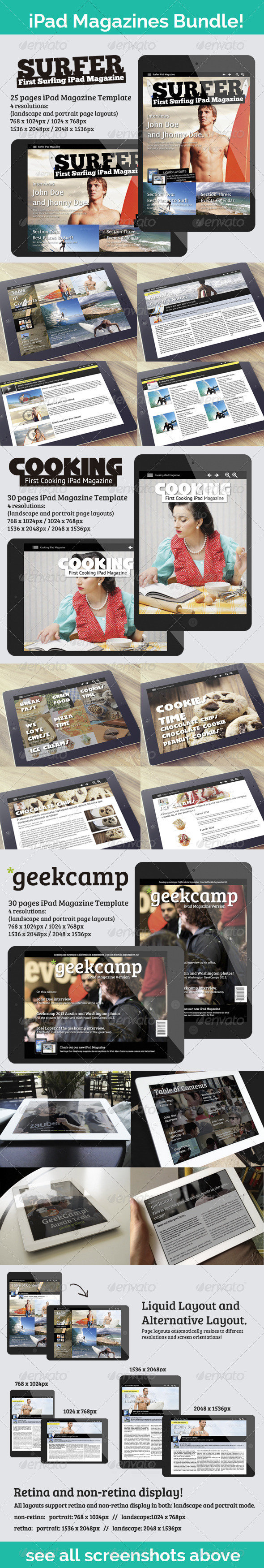 GraphicRiver iPad Magazines Bundle Sports Cook and Tech 6914565