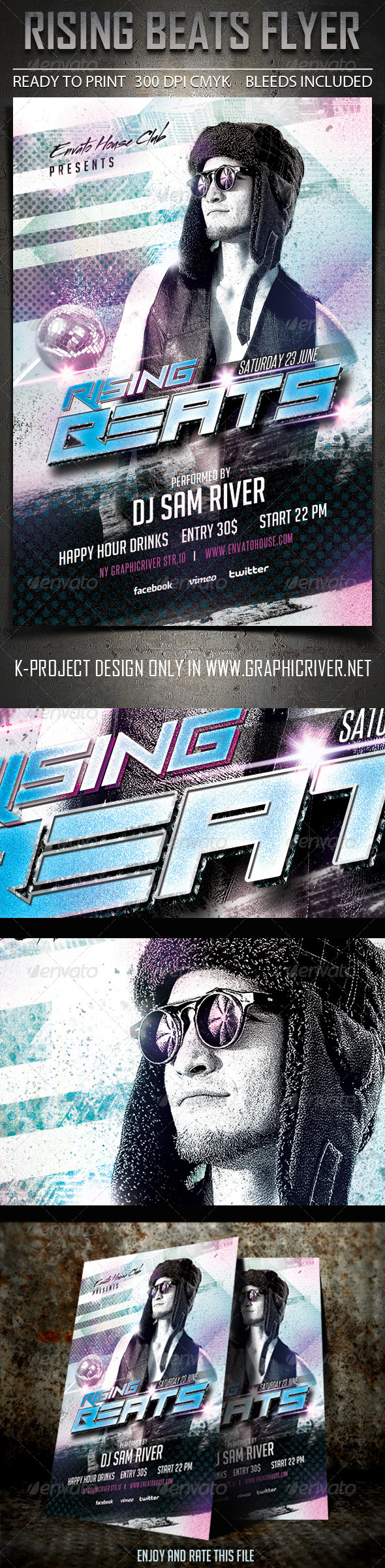GraphicRiver Rising Beats Flyer 6914568