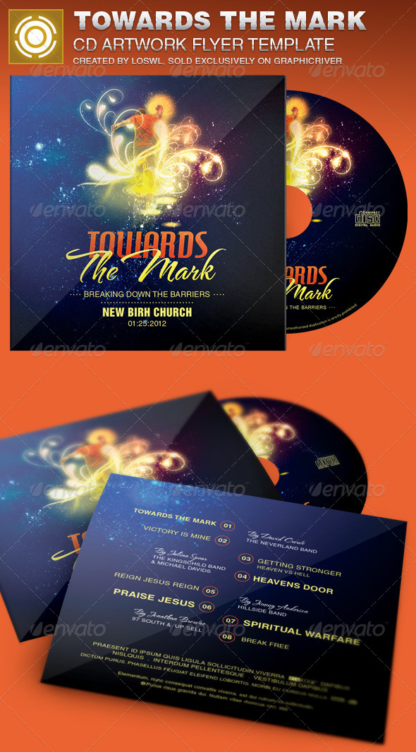 GraphicRiver Towards the Mark CD Artwork Template 6914599