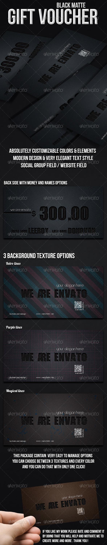 GraphicRiver Black Matte Gift Voucher 6913199