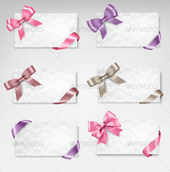GraphicRiver Cards with Bows 6914627