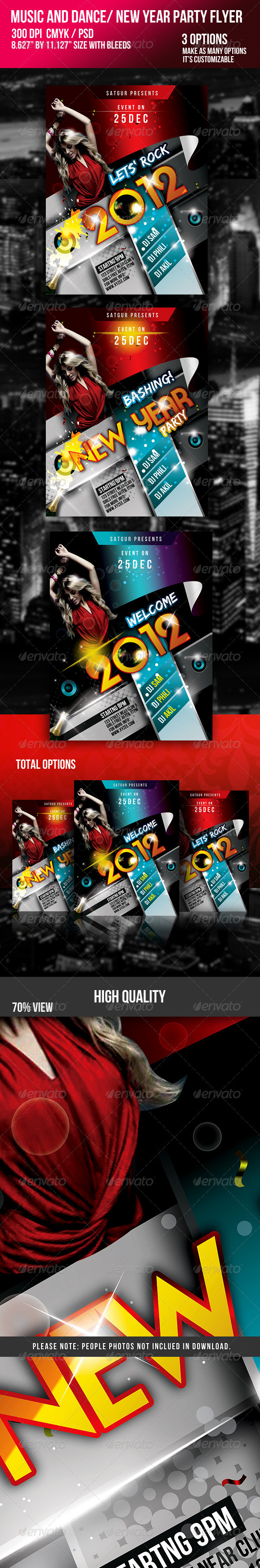 GraphicRiver 2011 New Year Dance Music Party Night Flyer 723652
