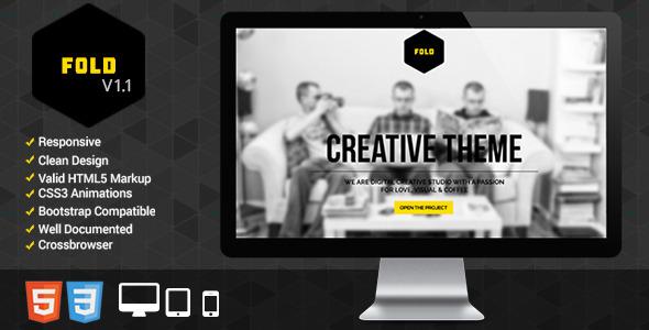 Fold Portfolio - Responsive Portfolio Template